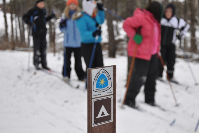 Skiing the North Country Trail